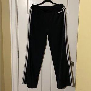 Adidas wide leg yoga pants.